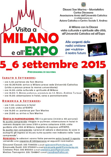 Locandina Visita Milano 2015