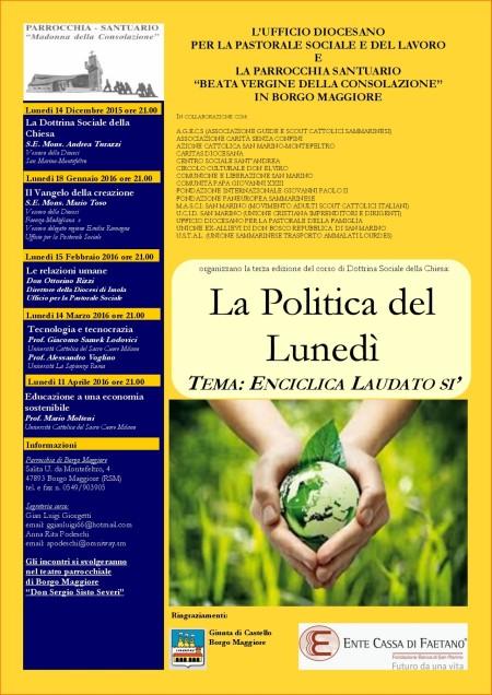 Dottrina Sociale Borgo 2015 locandina