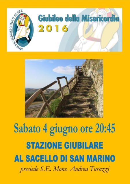 Locandina stazione giubilare SACELLO di San Marino