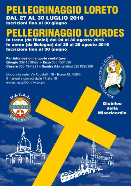 Pellegrinaggi USTAL Loreto-Lourdes
