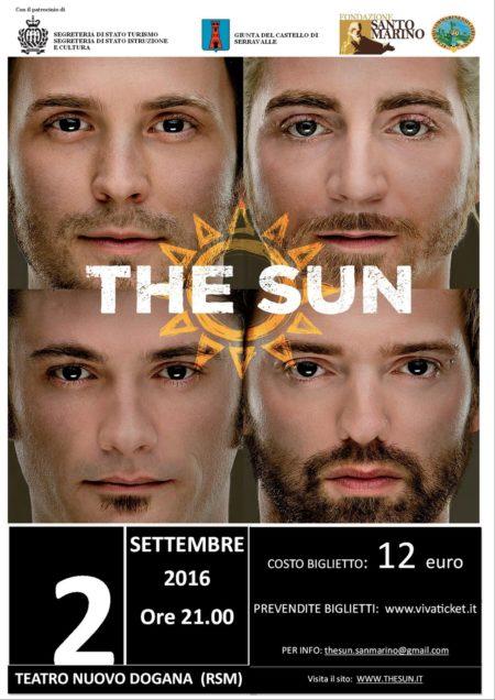 Locandina concerto the sun